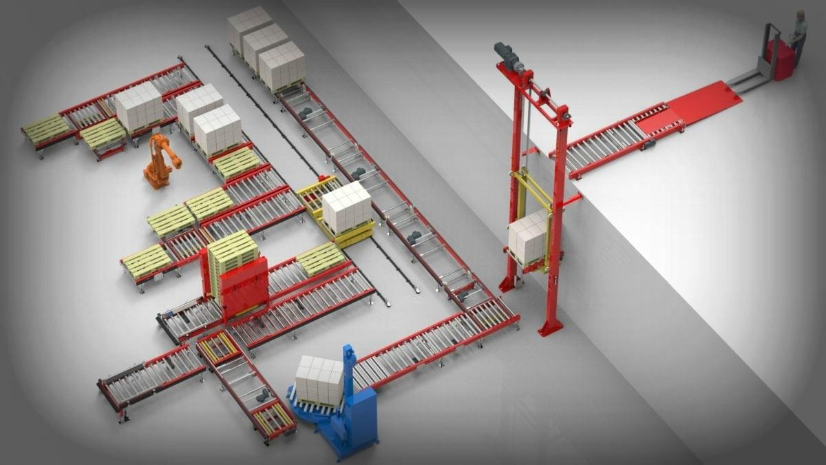 Renovering og service, samt flytning af pakke- og internt transportudstyr