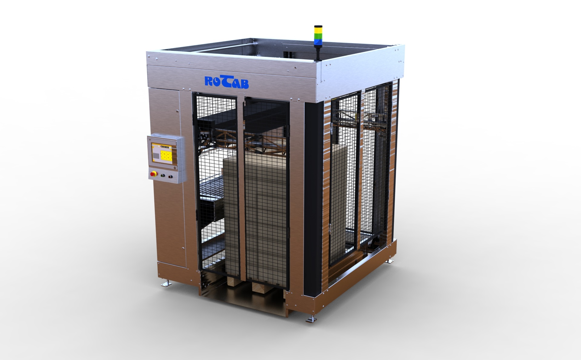 EasyLink Cube Palletiser. Halvautomatisk pallelaster