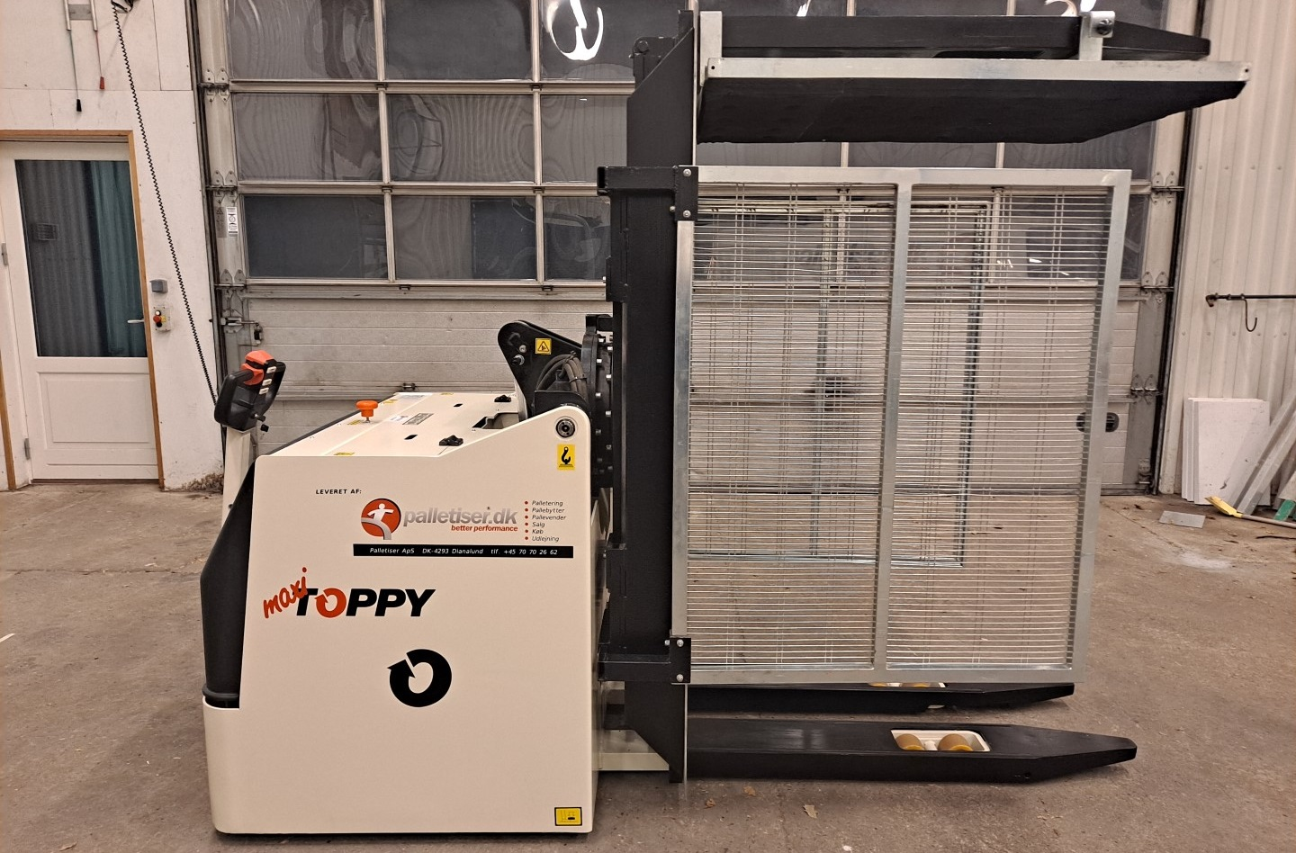 UDLEJNING - Mobil pallebytter model Toppy Maxi PH